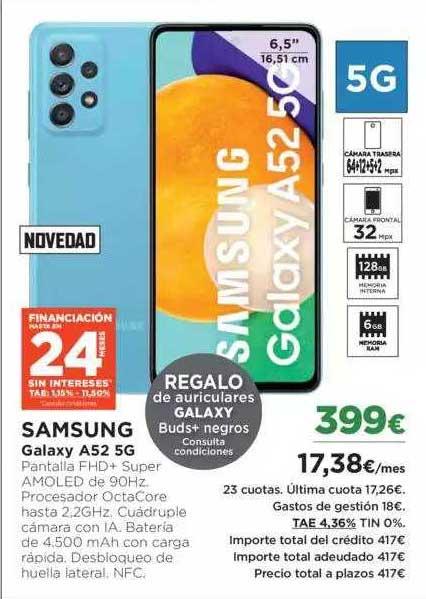El Corte Inglés Samsung Galaxy A52 5g