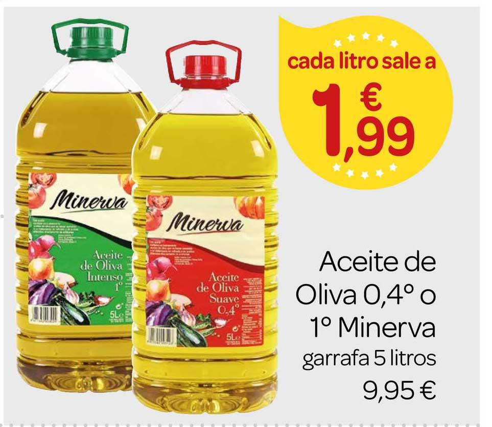 Supermercados El Jamón Aceite De Oliva 0, 4⁰ O 1⁰ Minerva Garrafa 5 Litros