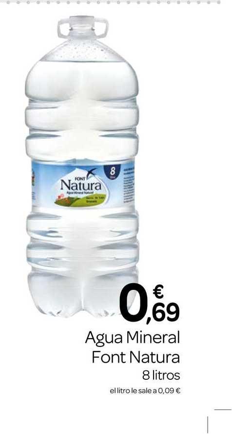 Supermercados El Jamón Agua Mineral Font Natura 8 Litros