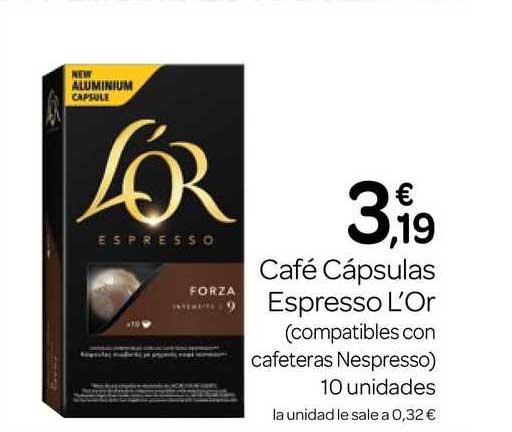 Supermercados El Jamón Café Cápsulas Espresso L'Or