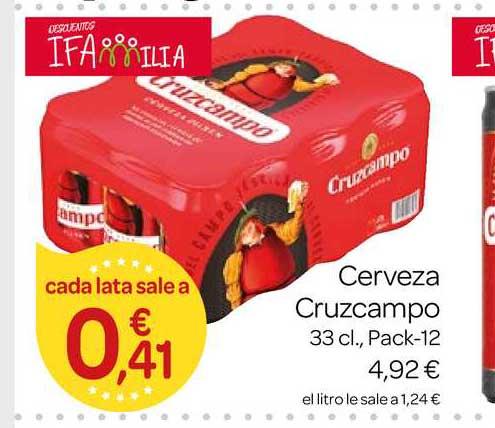 Supermercados El Jamón Cerveza Cruzcampo 33cl Pack-12