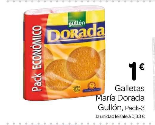 Supermercados El Jamón Galletas María Dorada Gullón Pack 3