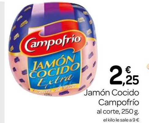 Supermercados El Jamón Jamón Cocido Campofrío Al Corte 250g