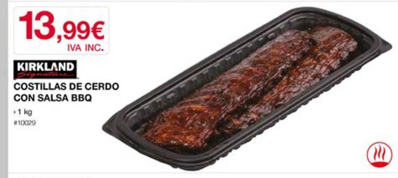 Costco Kirkland Signature Costillas De Cerdo Con Salsa BBQ 1 Kg