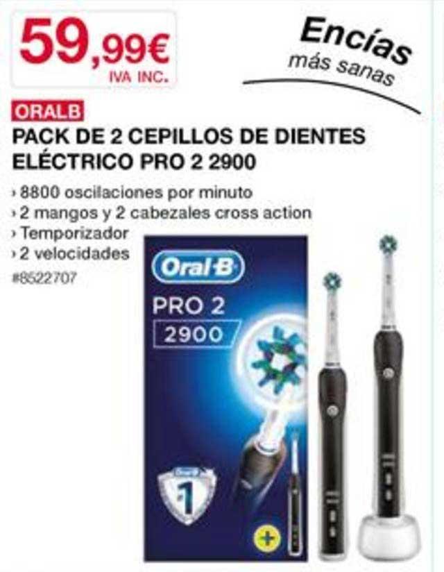Costco Oral B Pack De 2 Cepillos De Dientes Eléctrico Pro 2 29000