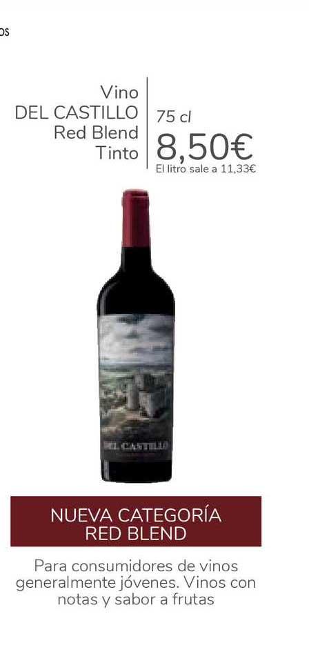 Carrefour Vino DEL CASTILLO Red Blend Tinto 75cl