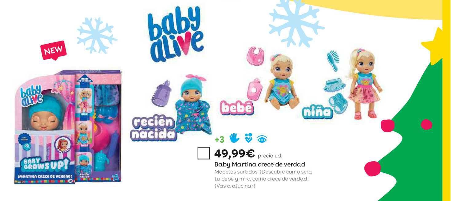 ToysRUs Baby Martina Crece De Verdad Baby Alive