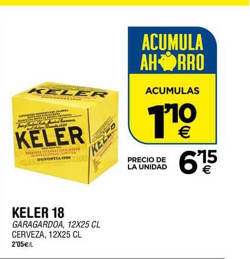 BM Supermercados Keler 18 Cerveza, 12x25 Cl