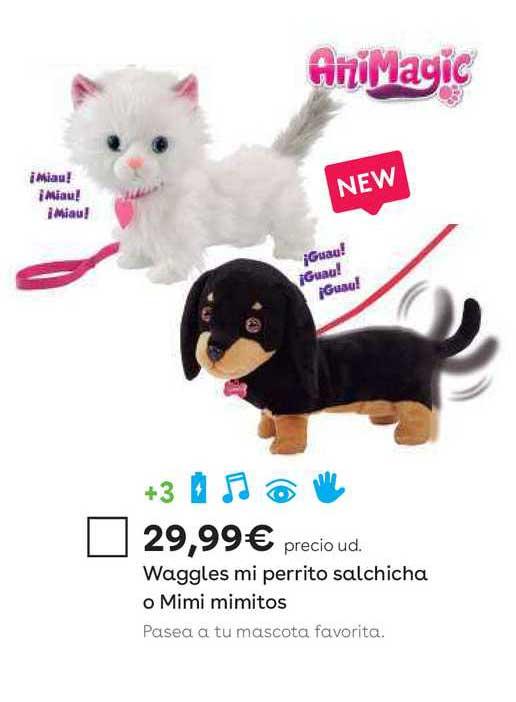 ToysRUs Waggles Mi Perrito Salchicha O Mimi Mimitos Animagic