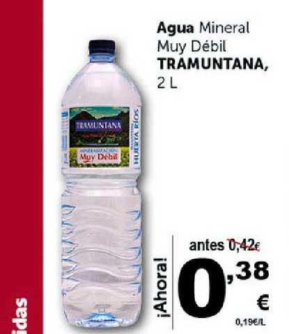 Masymas Agua Mineral Muy Débil Tramuntana, 2 L