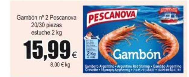 Froiz Gambón N° 2 Pescanova 20∕30 Piezas Estuche 2 Kg