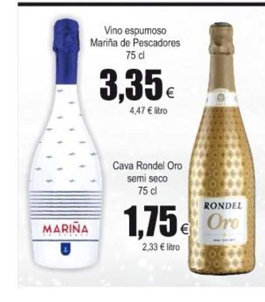 Froiz Vino Espumoso Mariña De Pescadores 75 Cl ∕ Cava Rondel Oro Semi Seco 75 Cl