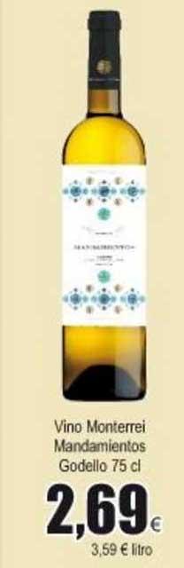 Froiz Vino Monterrei Mandamientos Godello 75 Cl