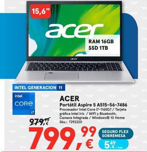 Worten Acer Portátil Aspire 5 A515-56-7486