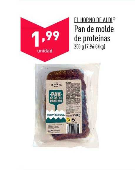 ALDI El Horno De Aldi Pan De Molde De Proteínas 250 G