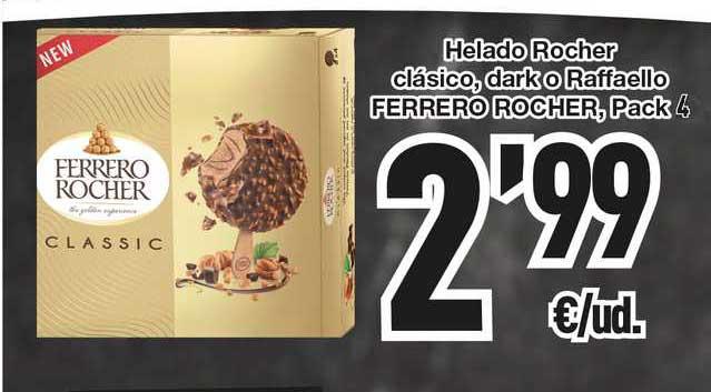 SPAR Fragadis Helado Rocher Clásico Dark O Raffaello Ferrero Rocher