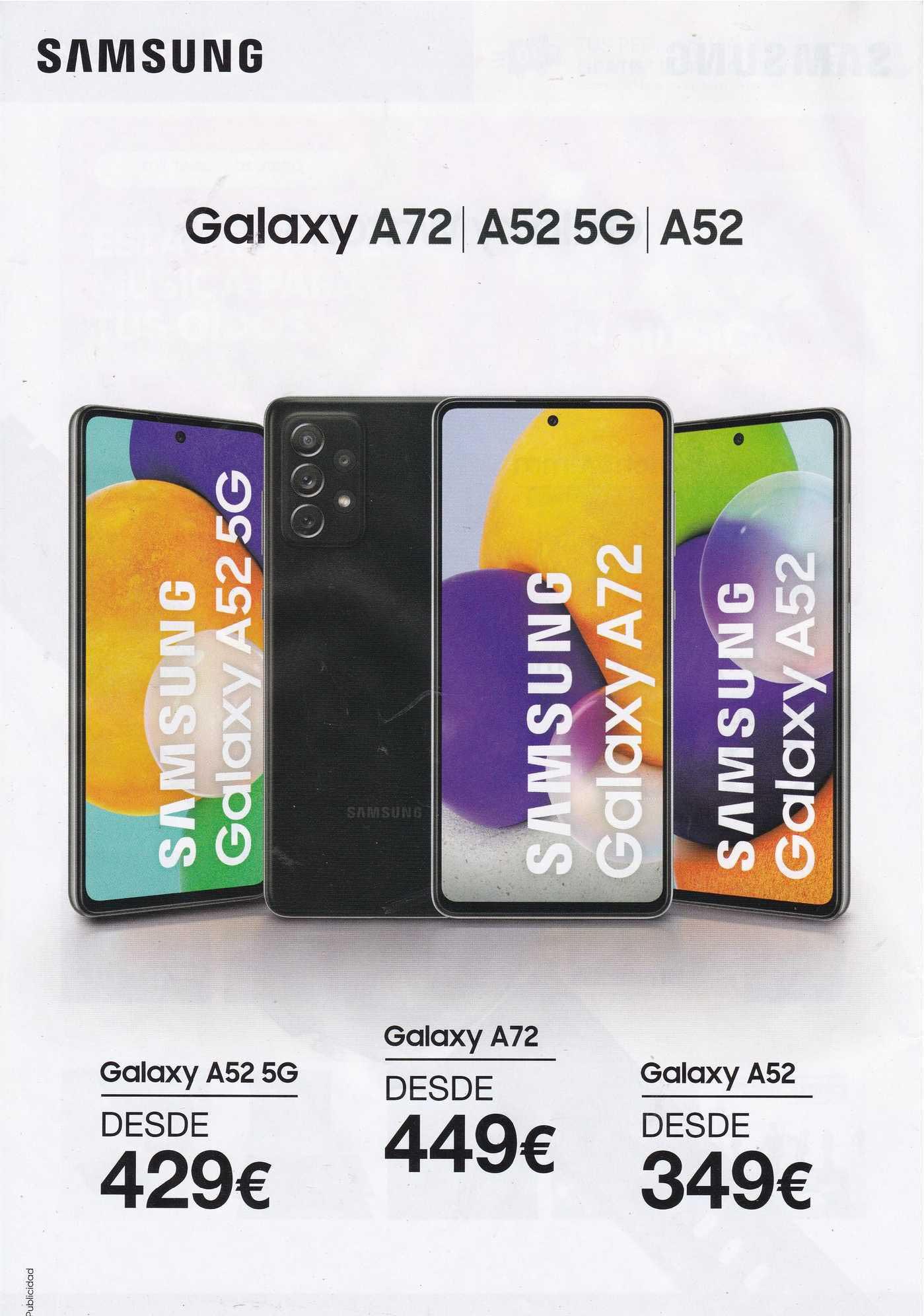 Fnac Samsung Galaxy A52 5g Galaxy A72 Galaxy A52