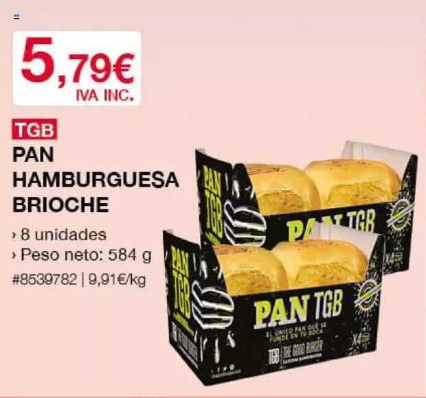 Costco Tgb Pan Hamburguesa Brioche