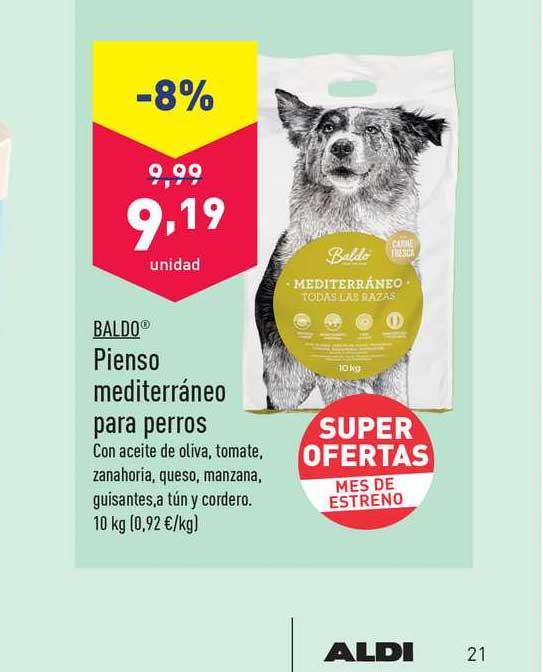 ALDI -8% Baldo Pienso Mediterráneo Para Perros