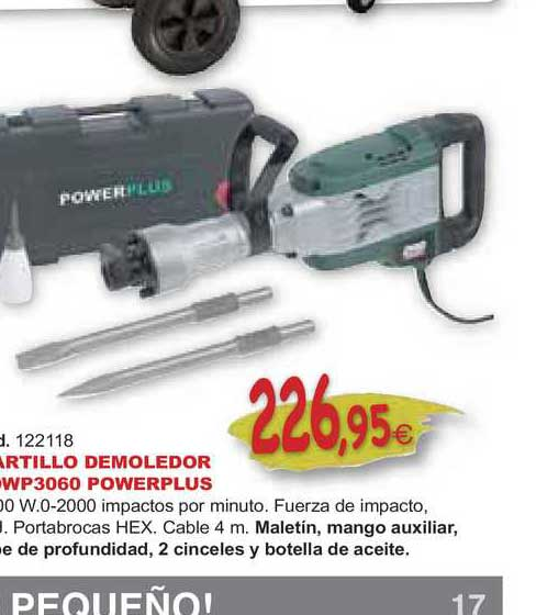 Ferrcash Martillo Demoledor Powp3060 Powerplus