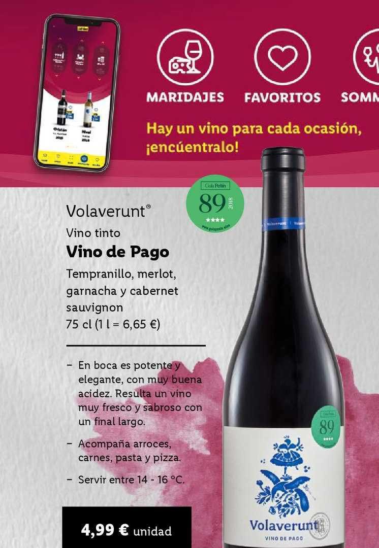 LIDL Volaverunt Vino Tinto Vino De Pago