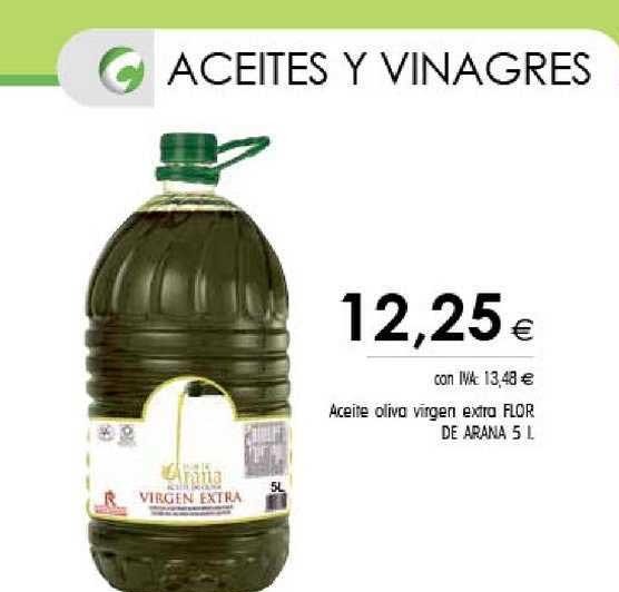 Cash Ifa Aceite Oliva Virgen Extra Flor De Arana 5 L