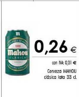 Cash Ifa Cerveza Mahou Clásica Lata 33 Cl