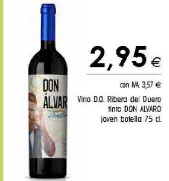 Cash Ifa Vino D.o. Ribera Del Duero Tinto Don Alvaro Joven Botella 75 Cl