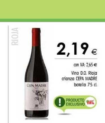 Cash Ifa Vino D.o. Rioja Crianza Cepa Madre Botella 75 Cl