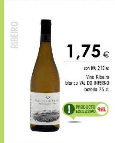 Cash Ifa Vino Ribeiro Blanco Val Do Inferno Botella 75 Cl
