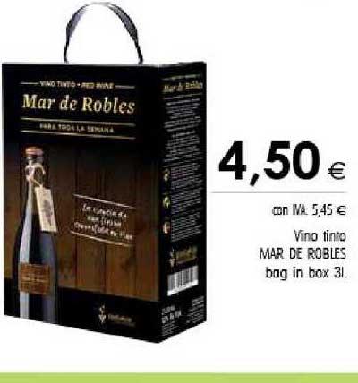 Cash Ifa Vino Tinto Mar De Robles Bag In Box 3l