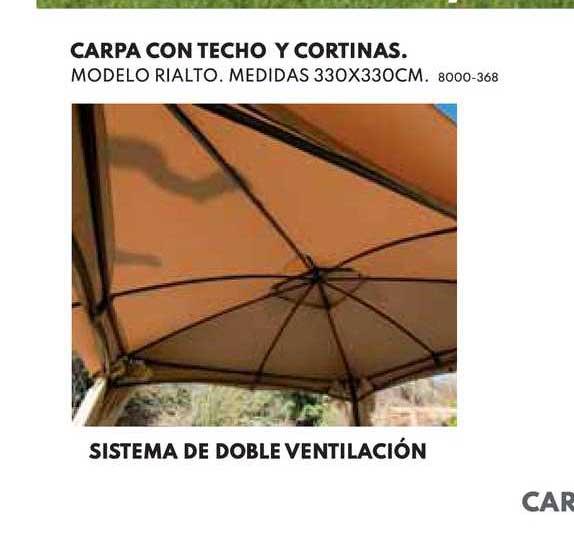 BricoCentro Carpa Con Techo Y Cortinas Sistema De Doble Ventilación