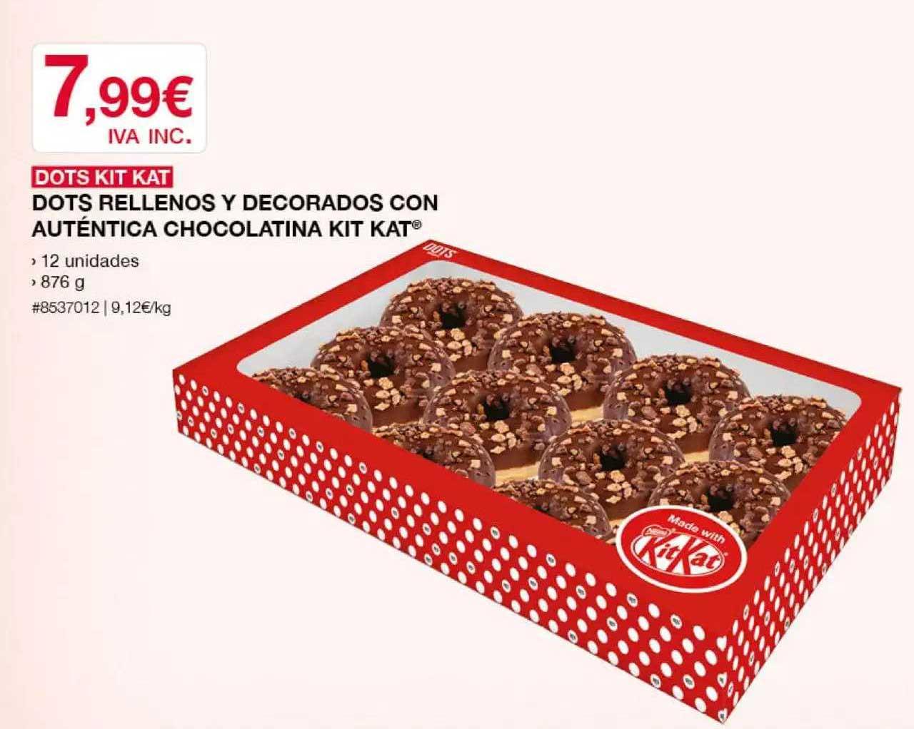 Costco Dots Kit Kat Dots Rellenos Y Decorados Con Auténtica Chocolatina Kit Kat