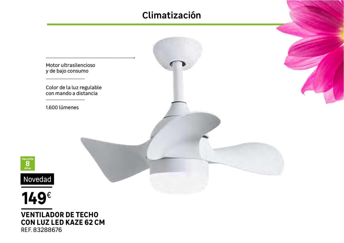 Leroy Merlin Ventilador De Techo Con Luz Kaze 62cm