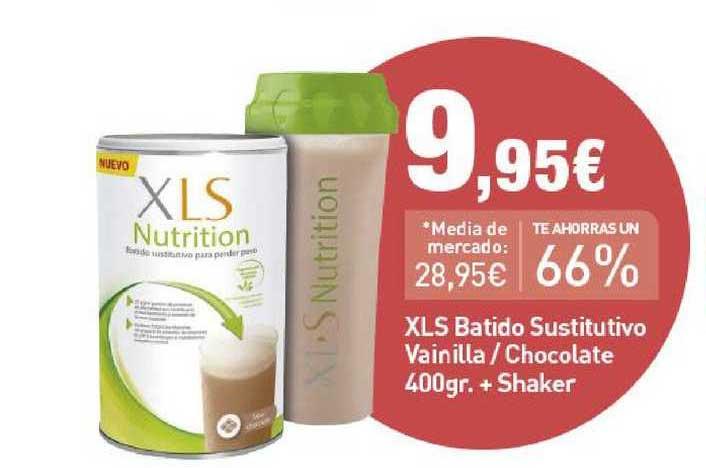 Primaprix XLS Batido Sustitutivo Vainilla ̸ Chocolate 400 Gr. + Shaker
