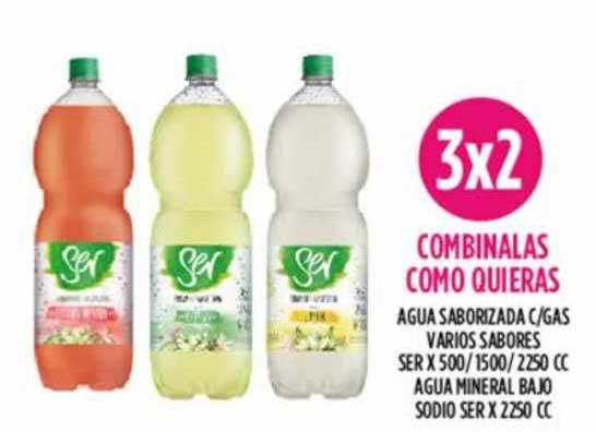 Supermercados Toledo Agua Saborizada C-gas Varios Sabores Ser X 500 - 1500 - 2250 Cc Agua Mineral Bajo Sodio Ser X 2250 Cc