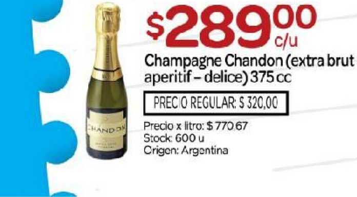 Josimar Champagne Chandon (extra Brut Aperitif-delice)