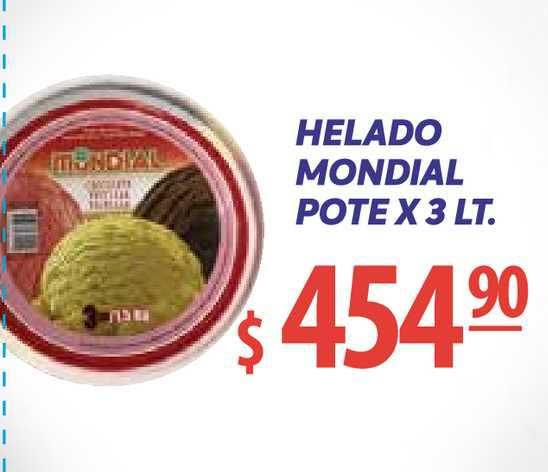 Único Supermercados Helado Mondial Pote X 3 Lt.