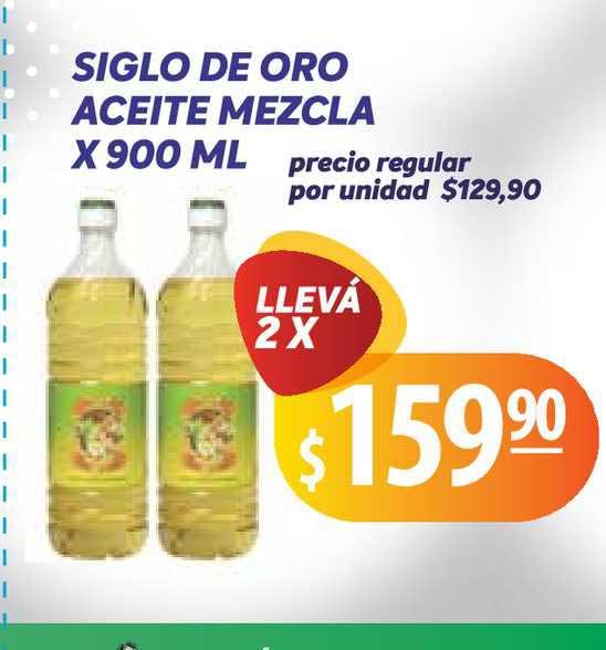Único Supermercados Siglo De Oro Aceite Mezcla X 900 Ml
