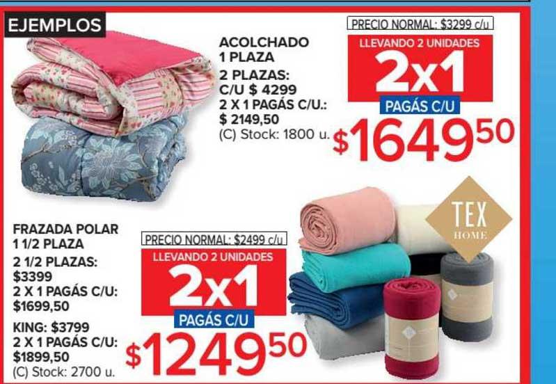 Carrefour Acolchado 1 Plaza 2 Plazas Frazada Polar 1 1-2plaza 2 1-2plazas