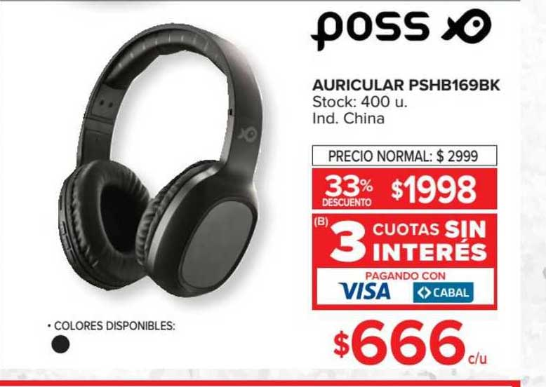 Carrefour Auricular Pshb169bk Poss