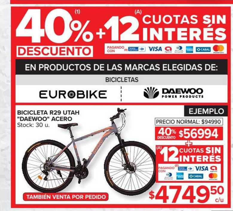 Carrefour Bicicleta R29 Utah