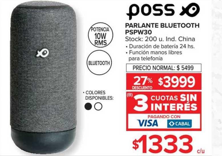 Carrefour Parlante Bluetooth Pspw30 Poss