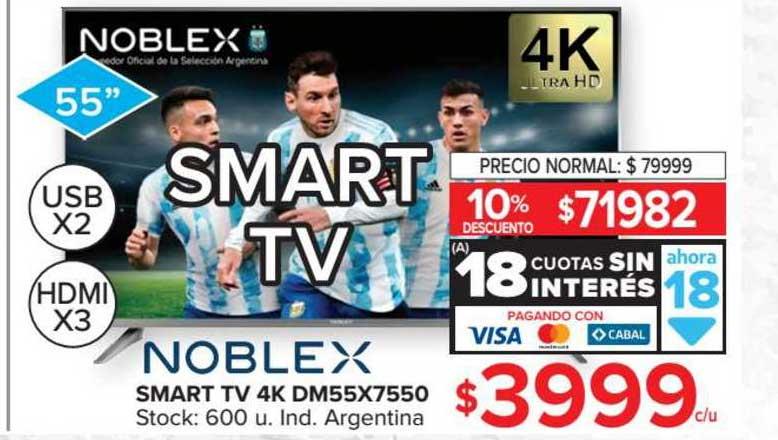 Carrefour Smart Tv 4k Dm55x7550 Noblex