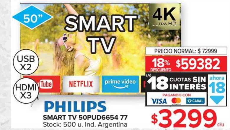 Carrefour Smart Tv 50pud6654 77 Philips