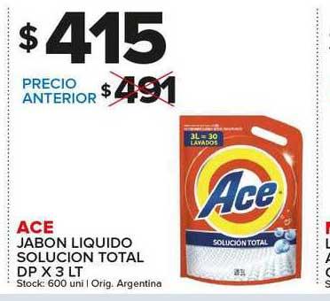 Carrefour Maxi Ace Jabon Liquido Solucion Total
