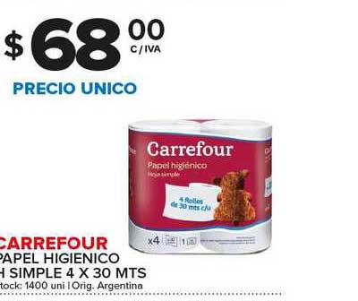 Carrefour Maxi Carrefour Papel Higienico H Simple