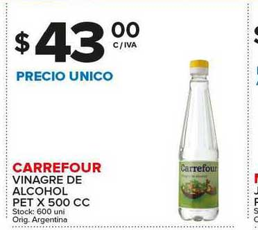 Carrefour Maxi Carrefour Vinagre De Alcohol Pet