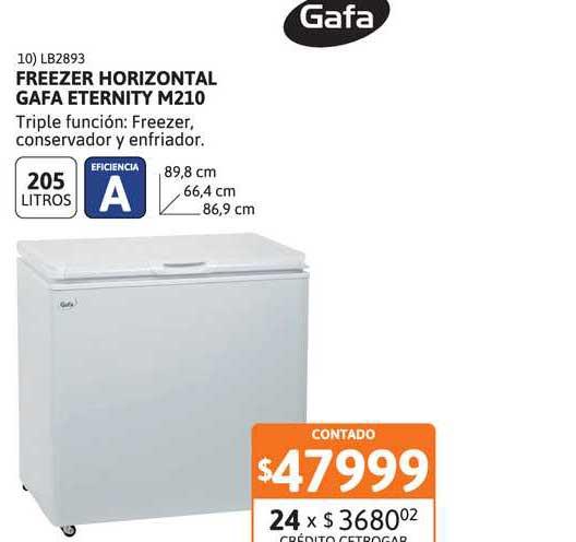 Cetrogar Freezer Horizontal Gafa Eternity M210
