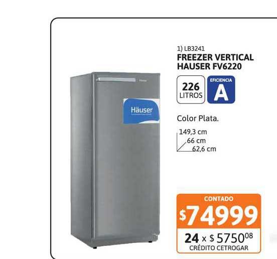 Cetrogar Freezer Vertical Hauser Fv6220